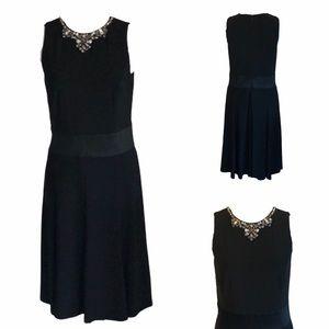 RALPH LAUREN Black Cocktail Dress w/Embellishments